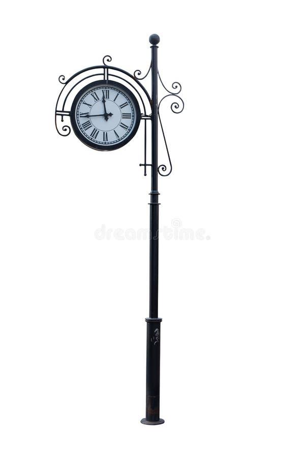 Ρολόι οδών σε έναν πόλο στοκ φωτογραφία με δικαίωμα ελεύθερης χρήσης