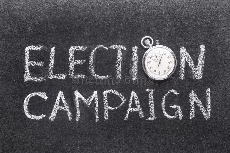 Ρολόι προεκλογικής εκστρατείας στοκ εικόνα με δικαίωμα ελεύθερης χρήσης