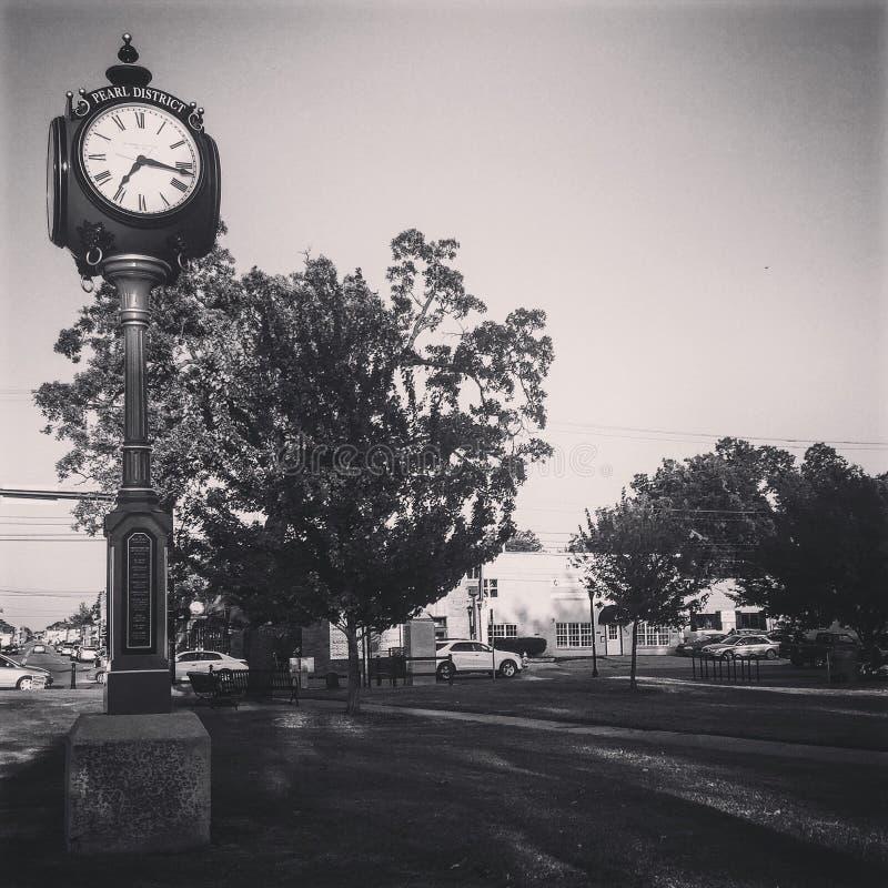 Ρολόι στο μαργαριτάρι στοκ φωτογραφίες με δικαίωμα ελεύθερης χρήσης