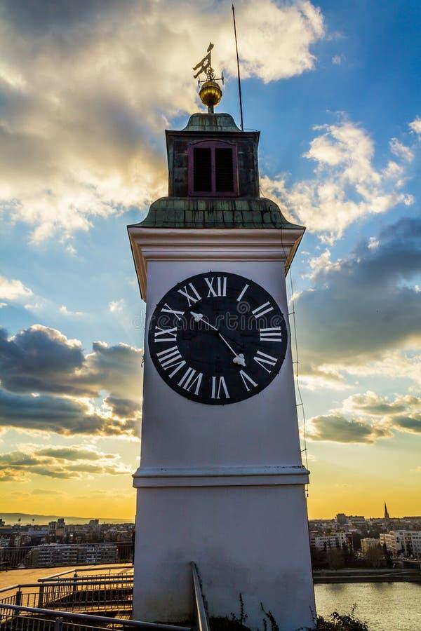 Ρολόι φρουρίων Varadin στοκ εικόνες με δικαίωμα ελεύθερης χρήσης
