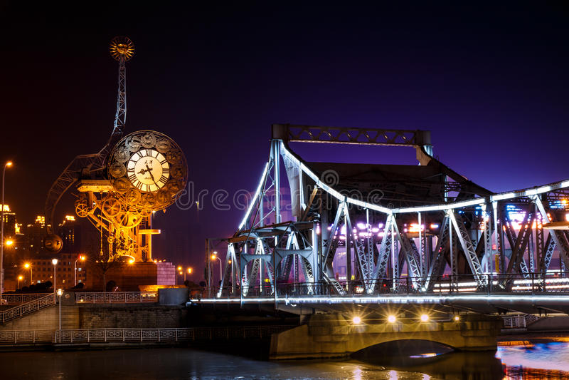 Ρολόι Centry Tianjin στοκ φωτογραφίες με δικαίωμα ελεύθερης χρήσης