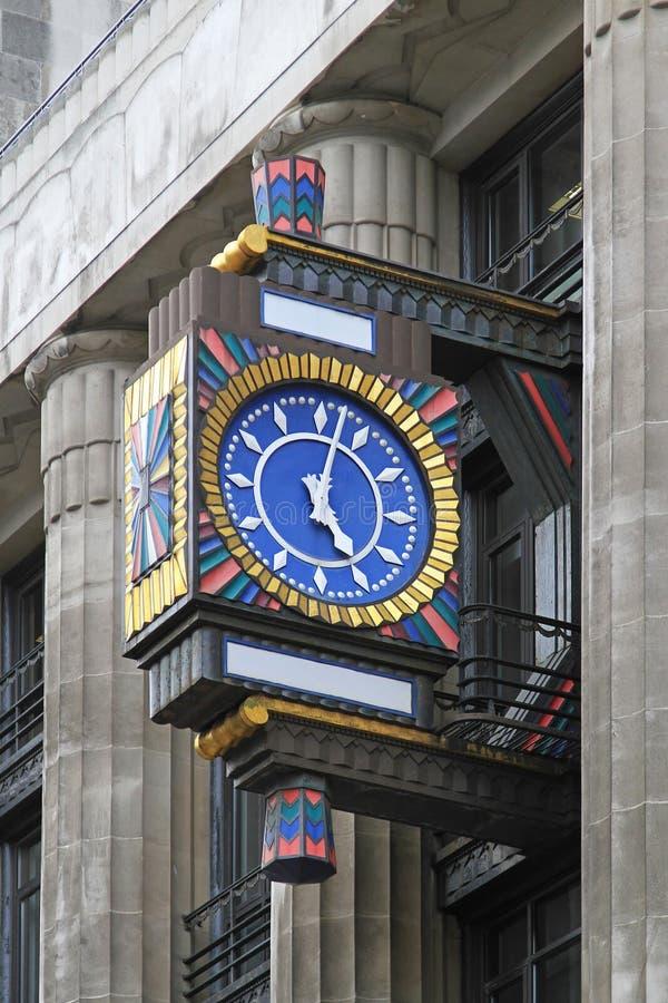 Ρολόι deco τέχνης στοκ φωτογραφίες με δικαίωμα ελεύθερης χρήσης