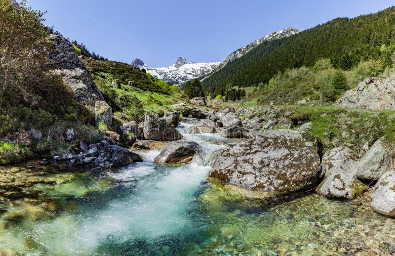 Ρυάκι βουνών στα Πυρηναία στοκ εικόνα με δικαίωμα ελεύθερης χρήσης