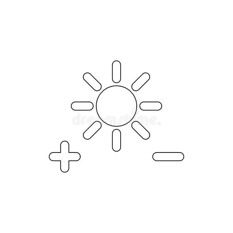 Ρυθμίστε το εικονίδιο περιλήψεων τοποθετήσεων φωτεινότητας E απεικόνιση αποθεμάτων