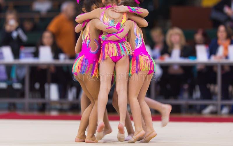 Ρυθμικός ανταγωνισμός γυμναστικής στοκ φωτογραφία με δικαίωμα ελεύθερης χρήσης
