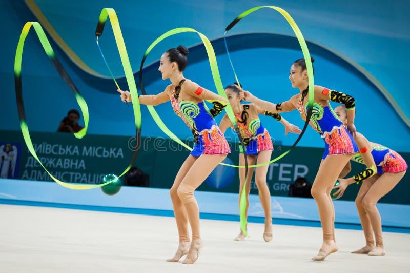 Ρυθμικό παγκόσμιο πρωτάθλημα γυμναστικής στοκ φωτογραφία