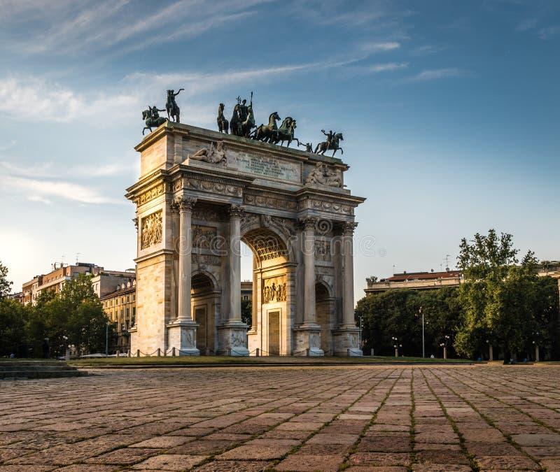 Ρυθμός della του Μιλάνου arco στοκ φωτογραφία