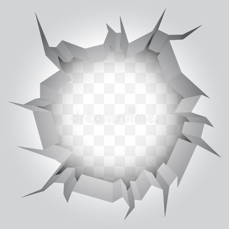 Ρωγμή τοίχων. απεικόνιση αποθεμάτων