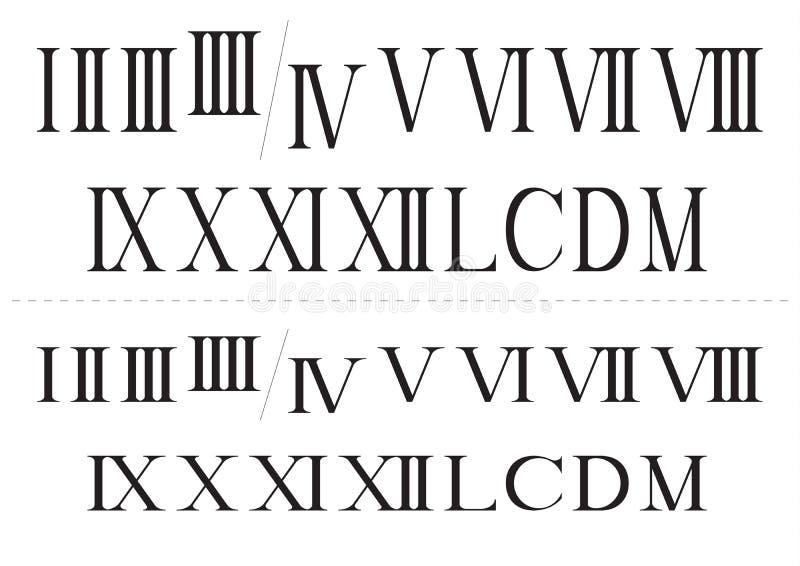 Ρωμαίος απομόνωσε τους αριθμούς καθορισμένους ελεύθερη απεικόνιση δικαιώματος
