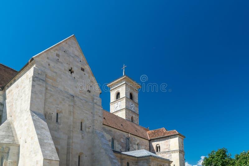 Ρωμαίος - καθολικός καθεδρικός ναός Άγιος Michael μέσα στην ακρόπολη Alba-Καρολίνα στη Alba Iulia, Ρουμανία στοκ εικόνες