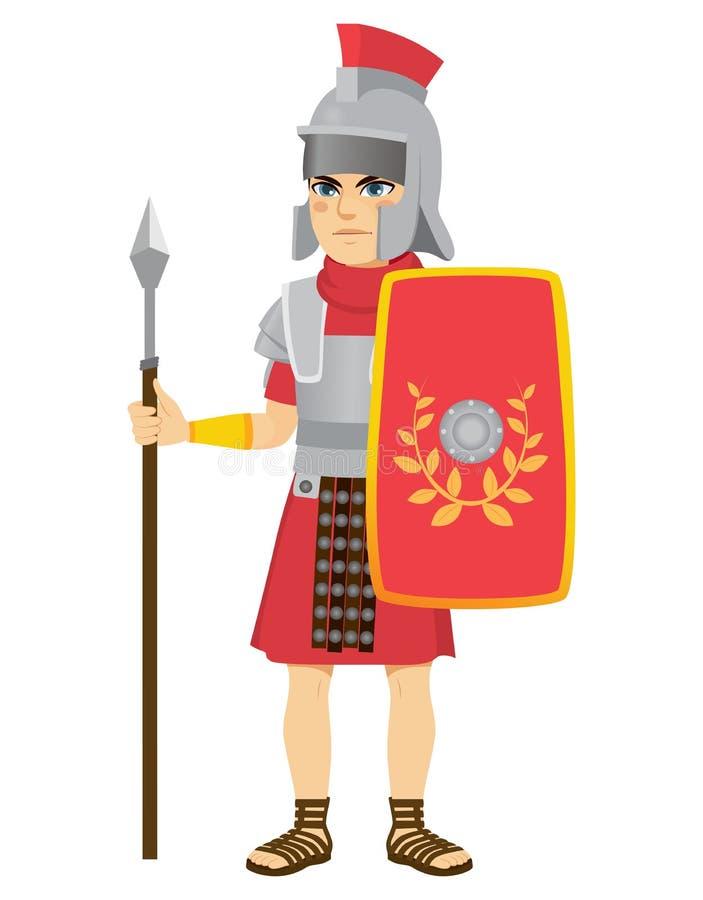 Ρωμαίος Λεγεωνάριος Στρατιώτης Λόγχη ελεύθερη απεικόνιση δικαιώματος