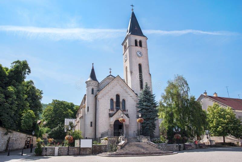 Ρωμαιοκαθολική εκκλησία σε Tokaj, Ουγγαρία στοκ εικόνες