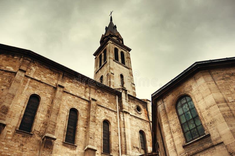 Ρωμαιοκαθολική εκκλησία στο Παρίσι στοκ εικόνα με δικαίωμα ελεύθερης χρήσης