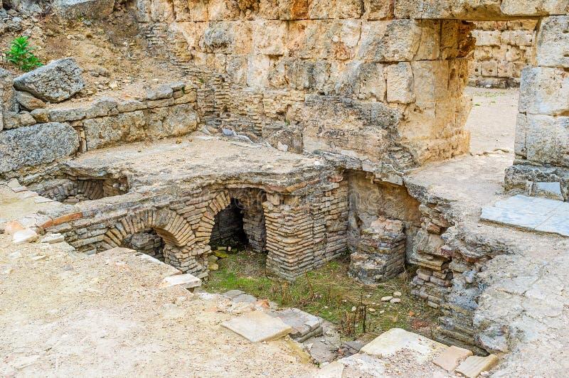 Ρωμαϊκά λουτρά Perge στοκ φωτογραφίες