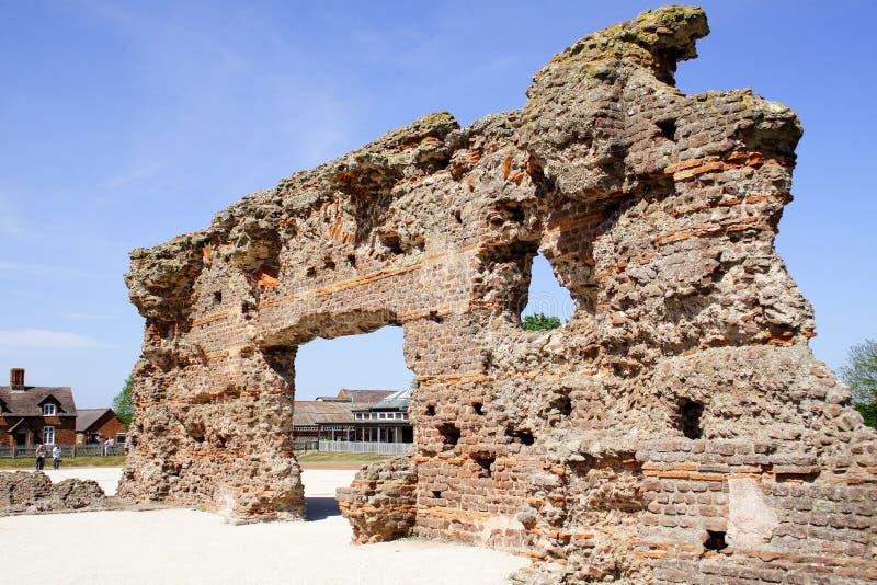 Ρωμαϊκά λουτρά Wroxeter στοκ φωτογραφία με δικαίωμα ελεύθερης χρήσης