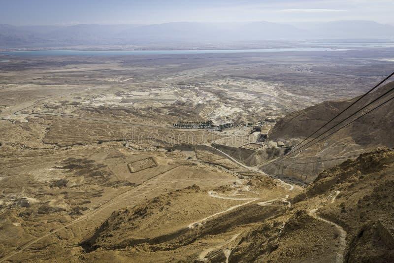 Ρωμαϊκά στρατόπεδα πολιορκίας Masada στοκ φωτογραφία