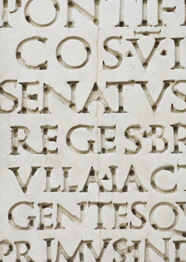 Ρωμαϊκές επιστολές στοκ εικόνα με δικαίωμα ελεύθερης χρήσης