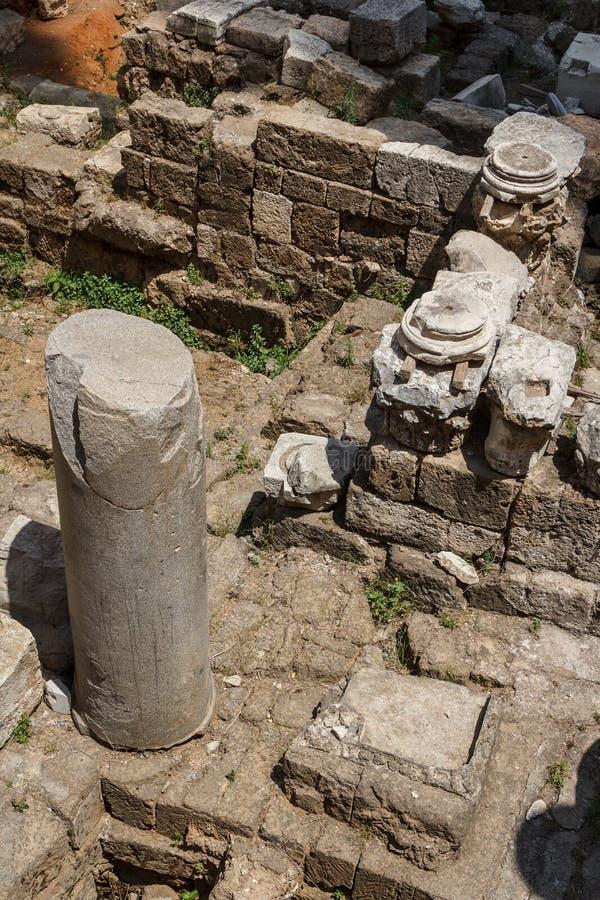 Ρωμαϊκές καταστροφές στο κέντρο της Βηρυττού στοκ φωτογραφία
