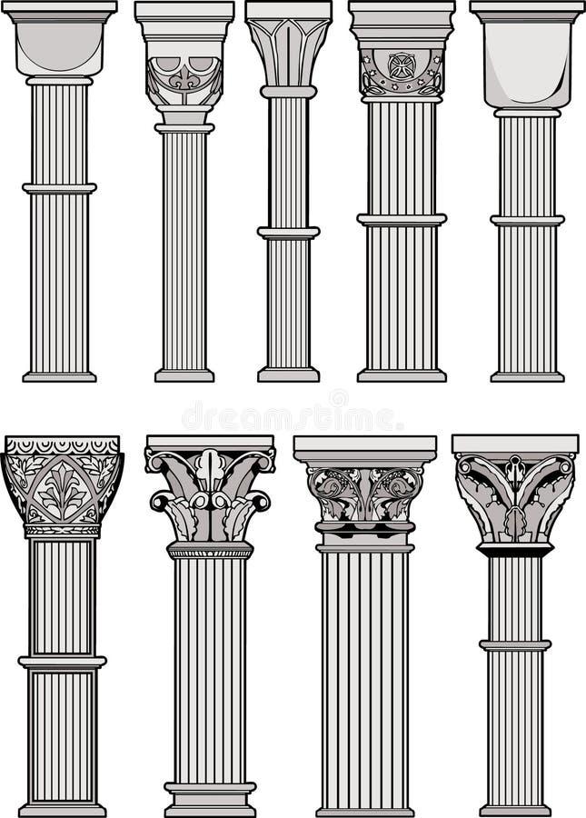Ρωμαϊκές στήλες Στοκ Φωτογραφίες