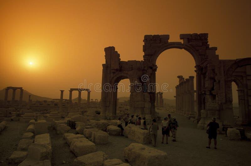 ΡΩΜΑΪΚΈΣ ΚΑΤΑΣΤΡΟΦΈΣ ΤΗΣ ΣΥΡΙΑΣ PALMYRA στοκ φωτογραφία