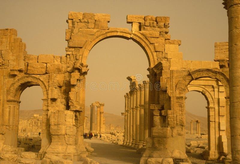 ΡΩΜΑΪΚΈΣ ΚΑΤΑΣΤΡΟΦΈΣ ΤΗΣ ΣΥΡΙΑΣ PALMYRA στοκ εικόνες