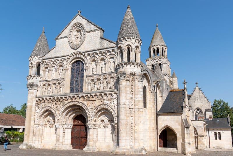 Ρωμαϊκή εκκλησία Notre Dame la Grande στην πόλη Poitiers Γαλλία στοκ φωτογραφίες με δικαίωμα ελεύθερης χρήσης