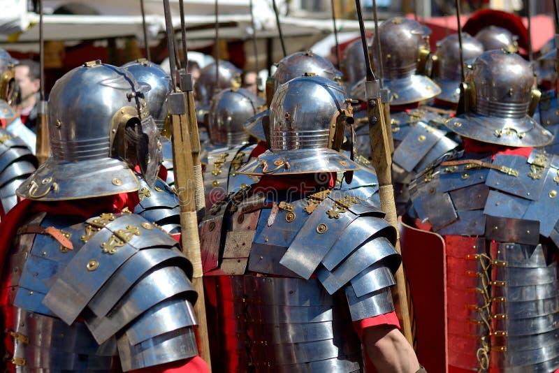 Ρωμαϊκοί στρατιώτες στοκ φωτογραφίες με δικαίωμα ελεύθερης χρήσης