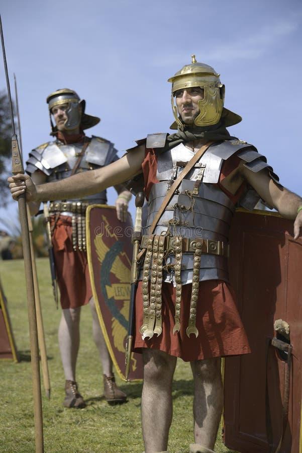 ρωμαϊκοί στρατιώτες στοκ εικόνα
