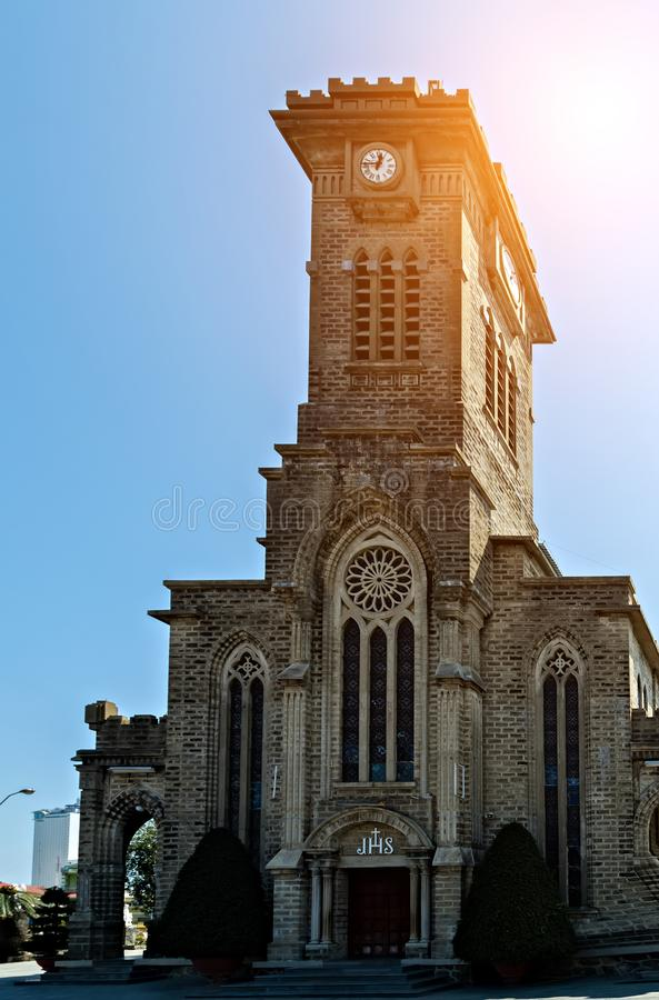Ρωμαϊκός καθολικισμός στο Βιετνάμ Χριστός ο καθεδρικός ναός βασιλιάδων, Nha Trang στοκ φωτογραφία με δικαίωμα ελεύθερης χρήσης