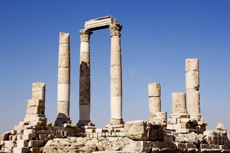 Ρωμαϊκός ναός, Αμμάν, Ιορδανία στοκ εικόνες