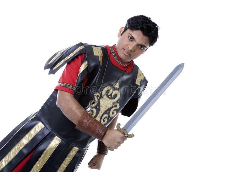 Ρωμαϊκός στρατιώτης με το ξίφος στοκ φωτογραφία με δικαίωμα ελεύθερης χρήσης