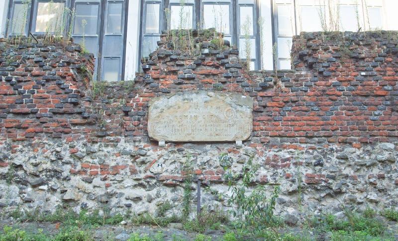 Ρωμαϊκός τοίχος, Λονδίνο στοκ εικόνα με δικαίωμα ελεύθερης χρήσης