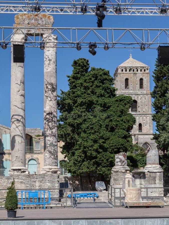 Ρωμαϊκό θέατρο Προβηγκία Γαλλία Arles στοκ φωτογραφία