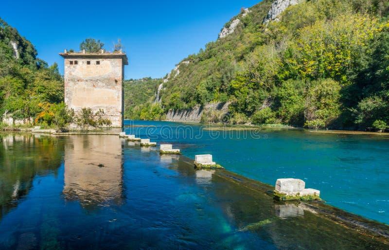 Ρωμαϊκό ναυπηγείο Stifone, κοντά σε Narni, Ουμβρία, κεντρική Ιταλία στοκ εικόνα με δικαίωμα ελεύθερης χρήσης