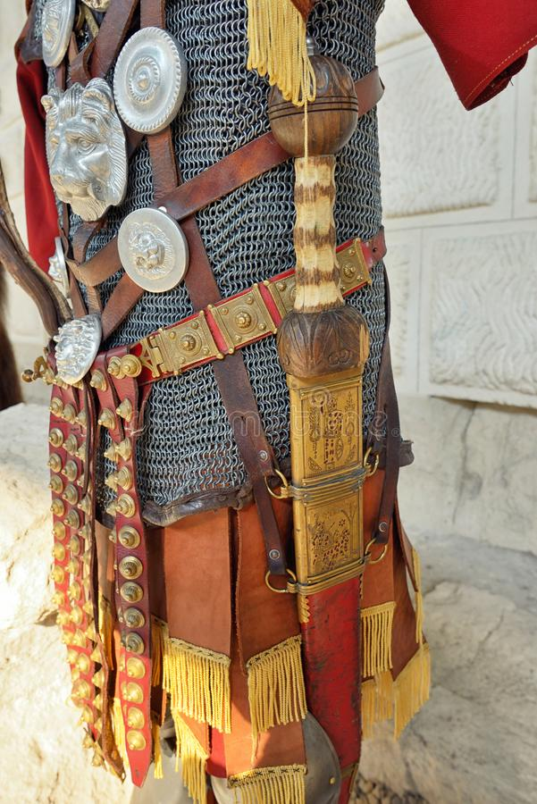 Ρωμαϊκό τεθωρακισμένο σιδήρου πολεμιστών στοκ φωτογραφία με δικαίωμα ελεύθερης χρήσης