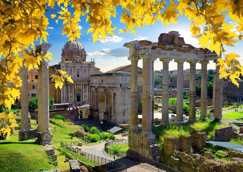 Ρωμαϊκό φόρουμ το φθινόπωρο στοκ φωτογραφία με δικαίωμα ελεύθερης χρήσης