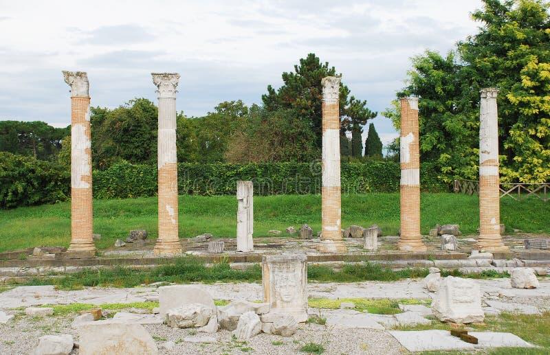 Ρωμαϊκό φόρουμ Aquileia στοκ εικόνα