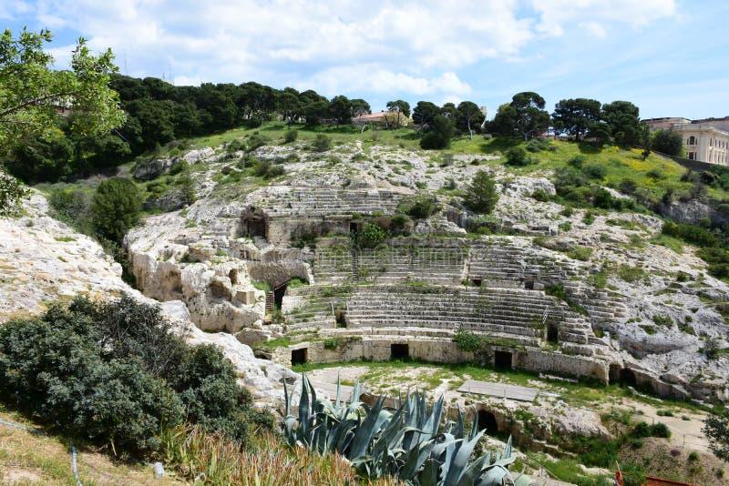 Ρωμαϊκό Ampitheatre, Κάλιαρι, Σαρδηνία, Ιταλία στοκ φωτογραφίες