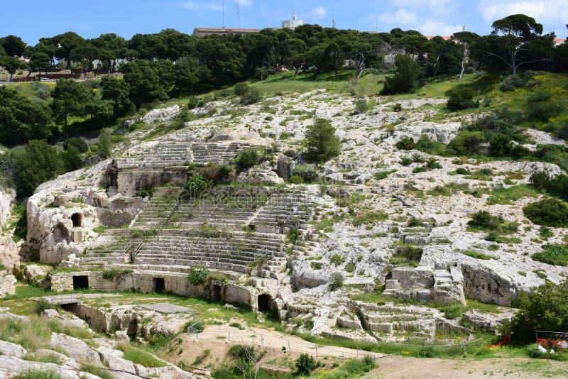 Ρωμαϊκό Ampitheatre, Κάλιαρι, Σαρδηνία, Ιταλία στοκ εικόνα