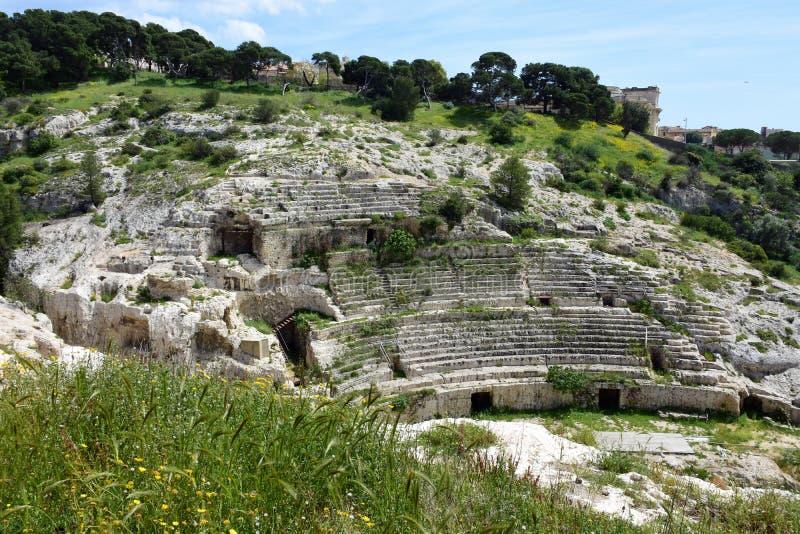 Ρωμαϊκό Ampitheatre, Κάλιαρι, Σαρδηνία, Ιταλία στοκ φωτογραφίες με δικαίωμα ελεύθερης χρήσης