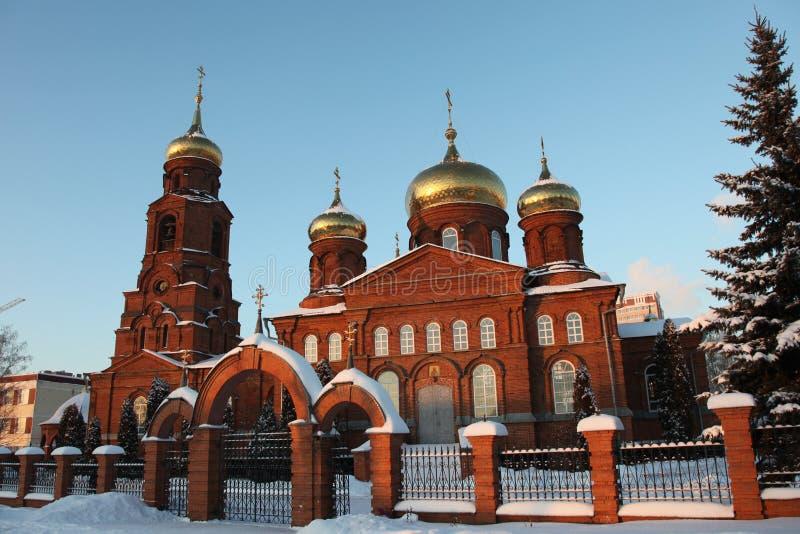 Ρωσία Δημοκρατία της Μορντβά, η εκκλησία του Άγιου Βασίλη στο Σαράνσκ στοκ εικόνες
