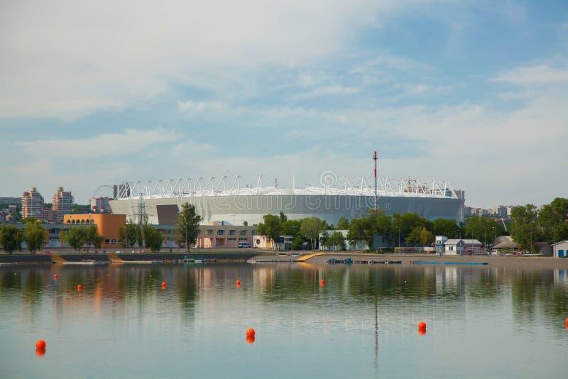 Ρωσία, στις 3 Ιουνίου 2018 άποψη Ροστόφ-NA-Donu του σταδίου όπου το Παγκόσμιο Κύπελλο κρατιέται στοκ εικόνες