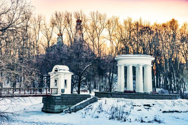 Ρωσία yekaterinburg Κήπος Kharitonovsky το χειμώνα στοκ φωτογραφίες