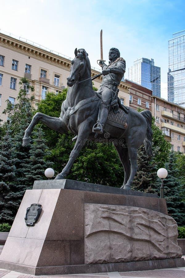 ΡΩΣΙΑ, ΜΟΣΧΑ - 30 Ιουνίου 2017: Ρωσικός διοικητής Bagration, στην πλάτη αλόγου στοκ εικόνες με δικαίωμα ελεύθερης χρήσης