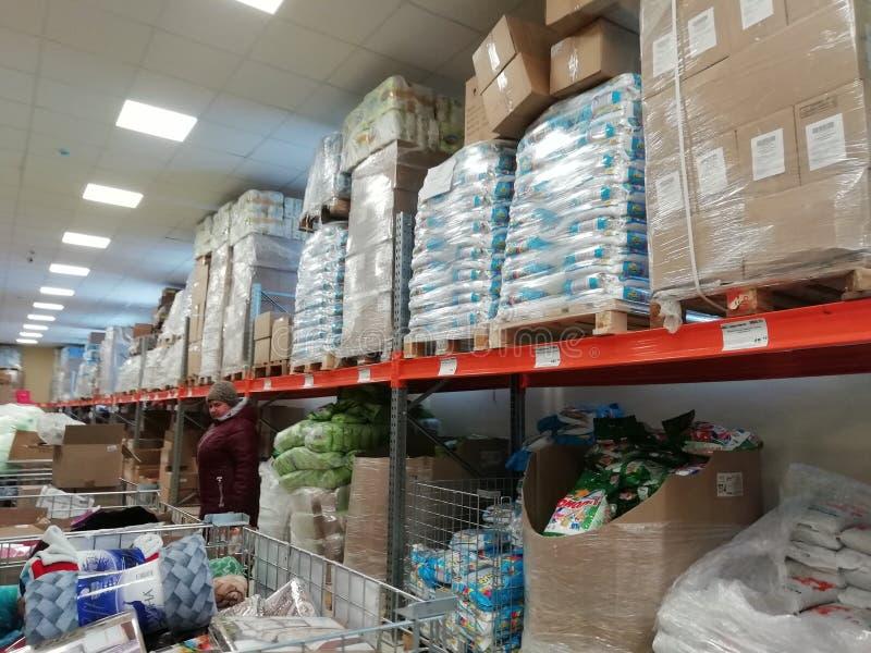 ΡΩΣΙΑ, URAL - ΤΟ ΔΕΚΈΜΒΡΙΟ ΤΟΥ 2018, αποθηκεύοντας κατάστημα χονδρικός στοκ φωτογραφία με δικαίωμα ελεύθερης χρήσης