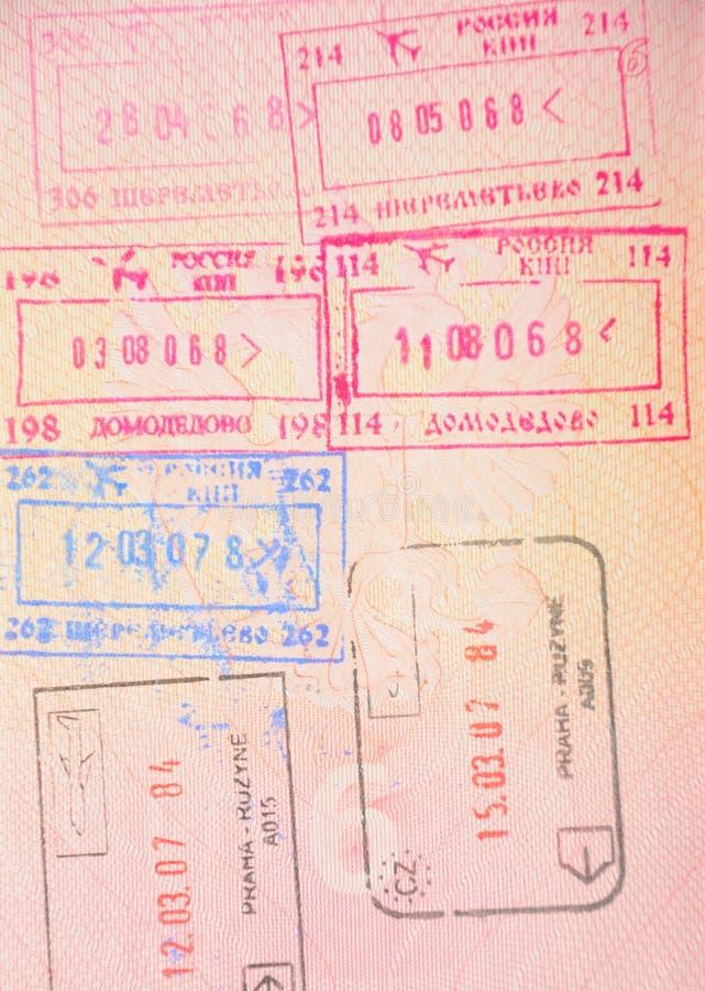 ρωσικά γραμματόσημα συνόρ&omega στοκ εικόνες