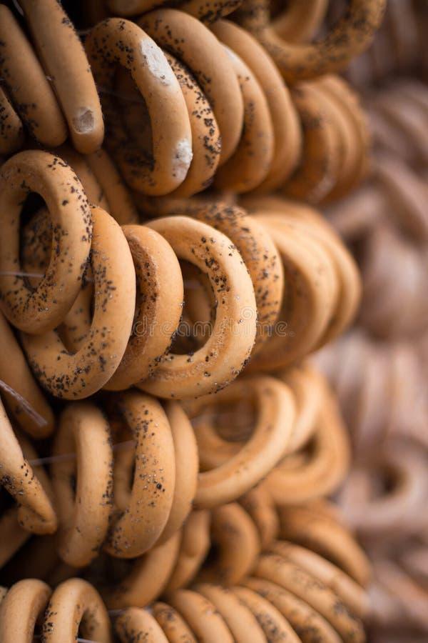 Ρωσικά νόστιμα bagels στοκ εικόνα με δικαίωμα ελεύθερης χρήσης