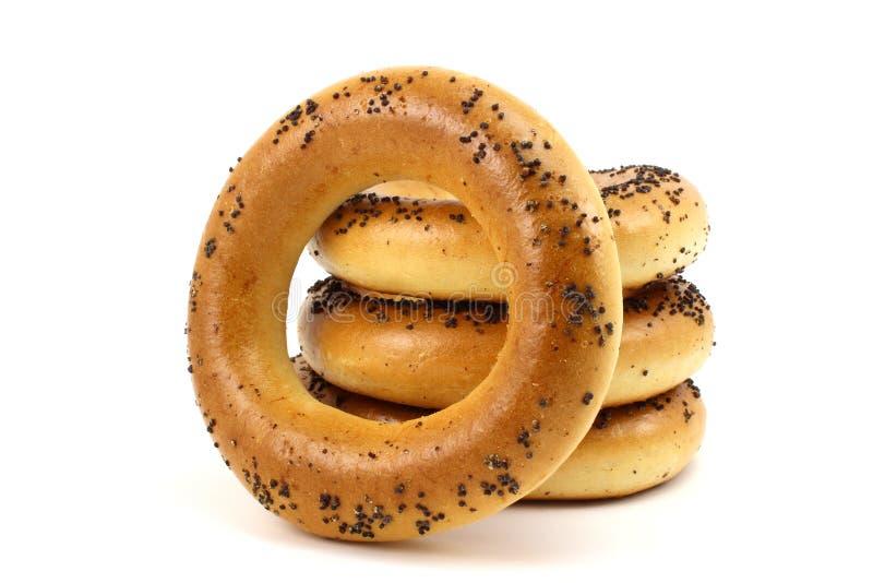 Ρωσικά bagels με τους σπόρους παπαρουνών στοκ φωτογραφία με δικαίωμα ελεύθερης χρήσης