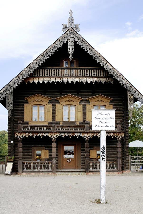Ρωσική αποικία Alexandrowka στο Πότσνταμ στοκ φωτογραφία
