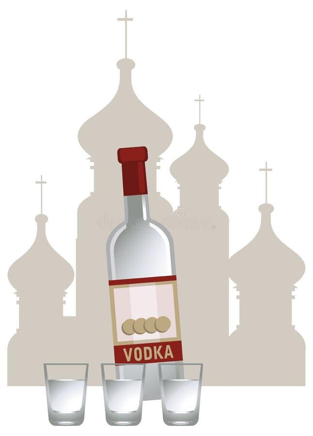 Ρωσική βότκα διανυσματική απεικόνιση